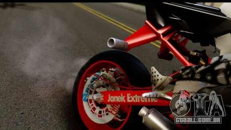 Kawasaki Ninja ZX6R v3.1 Fixed para GTA San Andreas vista traseira