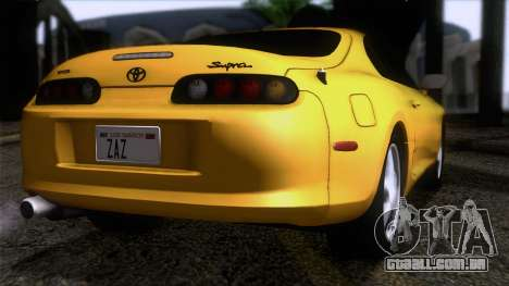Toyota Supra S-Spec (JZA80) 1993 ECO AUDIT para GTA San Andreas esquerda vista