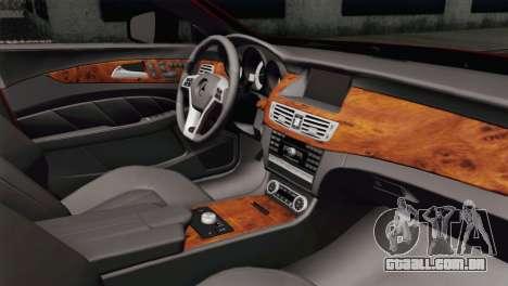 Mercedes-Menz CLS63 AMG para GTA San Andreas vista direita