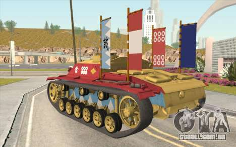 StuG III Ausf. G Girls and Panzer Color Camo para GTA San Andreas esquerda vista