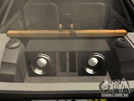 ВАЗ 2109 Centro de Lado para GTA San Andreas traseira esquerda vista