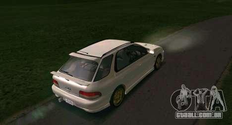 Subaru Impreza Sports Wagon WRX STI para GTA San Andreas vista direita