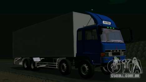 Mitsubishi Fuso The Great para GTA San Andreas traseira esquerda vista