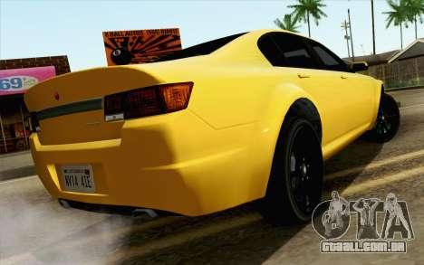 GTA 5 Cheval Fugitivo FIV АПП para GTA San Andreas esquerda vista