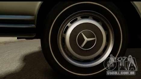 Mercedes-Benz 300 SEL 6.3 (W109) 1967 FIV АПП para GTA San Andreas vista traseira