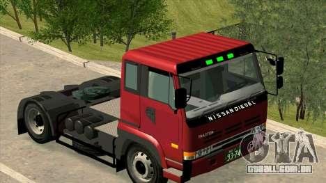 Nissan Diesel Bigthumb CK para GTA San Andreas esquerda vista