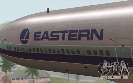 Lookheed L-1011 Eastern Als para GTA San Andreas vista traseira