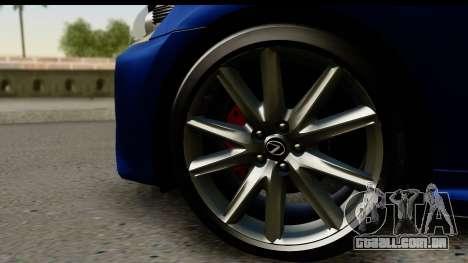Lexus GS350 para GTA San Andreas vista direita