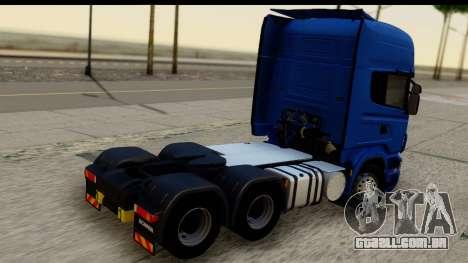 Scania G 4х6 para GTA San Andreas esquerda vista