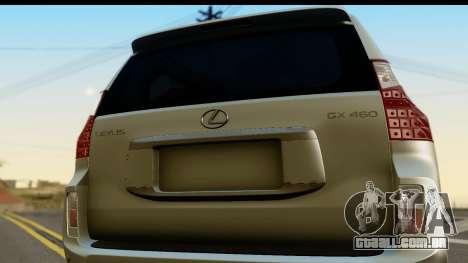Lexus GX460 para GTA San Andreas vista direita