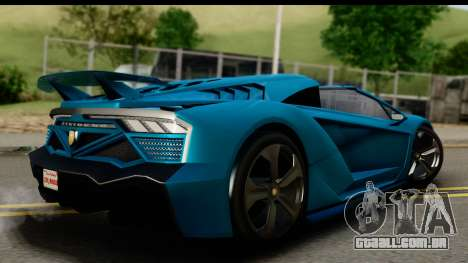 GTA 5 Zentorno Cabrio para GTA San Andreas esquerda vista
