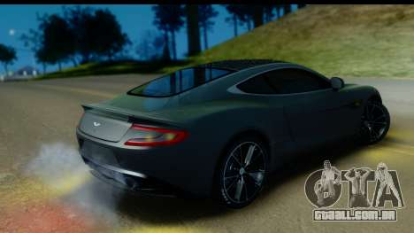 Aston Martin Vanquish 2013 Road version para GTA San Andreas vista interior