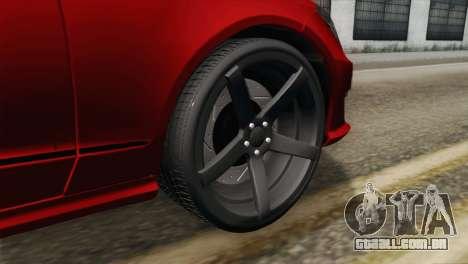 Mercedes-Menz CLS63 AMG para GTA San Andreas traseira esquerda vista