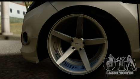 Ford Fiesta para GTA San Andreas vista interior