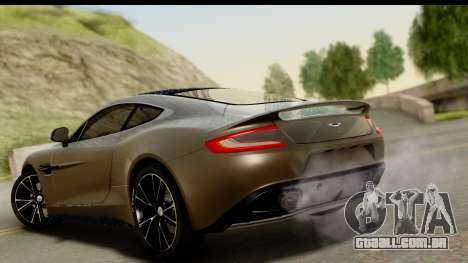 Aston Martin Vanquish 2013 Road version para GTA San Andreas esquerda vista