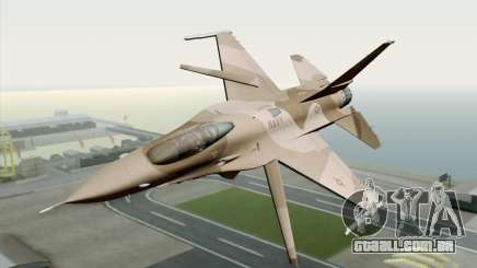 F-16C Fighting Falcon NSAWC Brown para GTA San Andreas