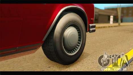GTA 5 Benefactor Glendale IVF para GTA San Andreas traseira esquerda vista