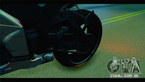 Kawasaki Ninja ZX-10R Super Sonico Itansha para GTA San Andreas vista traseira