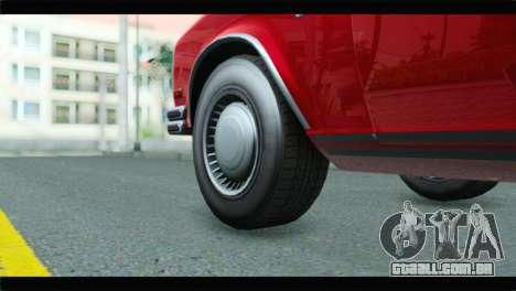 GTA 5 Benefactor Glendale para GTA San Andreas traseira esquerda vista