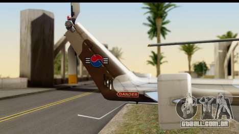 MBB Bo-105 Korean Army para GTA San Andreas vista direita