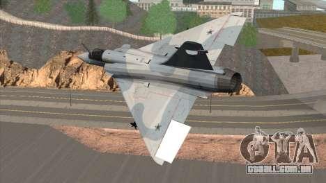 Dassault Mirage 2000 Forca Aerea Brasileira para GTA San Andreas esquerda vista