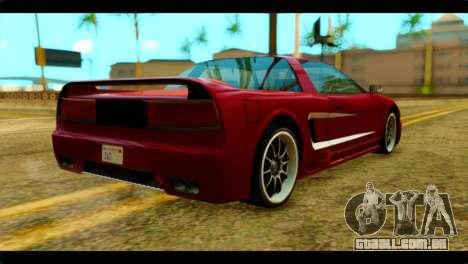 Infernus Rapide S Stock para GTA San Andreas esquerda vista
