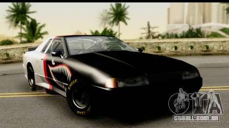 Elegy NASCAR PJ para GTA San Andreas vista interior