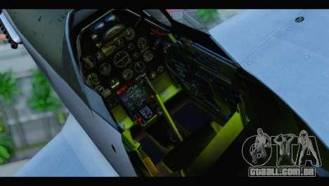 P-51 Mustang Mk4 para GTA San Andreas vista traseira