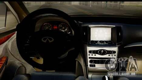 Infiniti JX 35 2013 para GTA San Andreas vista interior