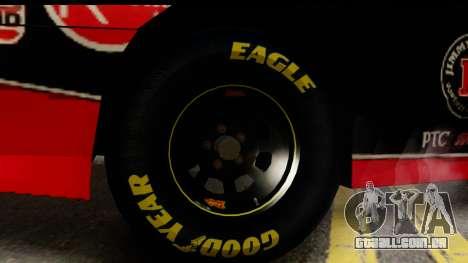 Elegy NASCAR PJ para GTA San Andreas traseira esquerda vista