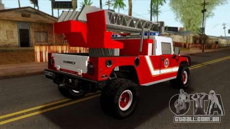 Hummer H1 Fire para GTA San Andreas esquerda vista