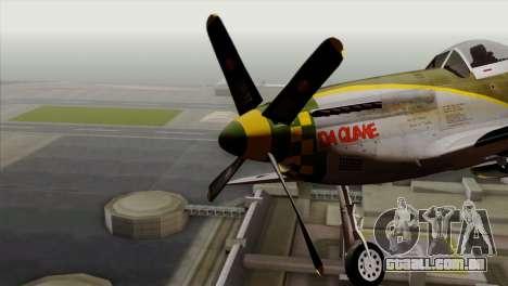 P-51D Mustang Da Quake para GTA San Andreas vista traseira