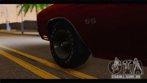 Chevrolet Chevelle 1970 Flat Shadow para GTA San Andreas traseira esquerda vista