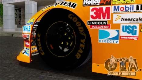 NASCAR Dodge Charger 2012 Short Track para GTA San Andreas traseira esquerda vista