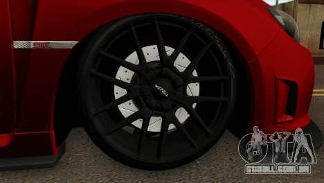 Subaru Impreza WRX STI Stanced para GTA San Andreas traseira esquerda vista