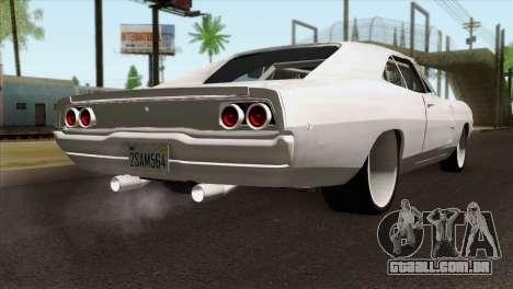 Dodge Charger 1968 para GTA San Andreas esquerda vista