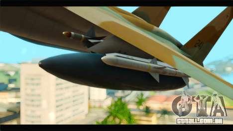 Boeing F-15C IAF para GTA San Andreas vista direita