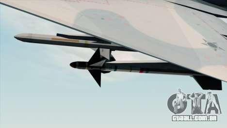 Dassault Mirage 2000 Forca Aerea Brasileira para GTA San Andreas vista direita