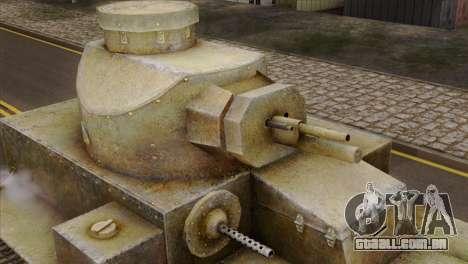 T2 Medium Tank para GTA San Andreas vista direita