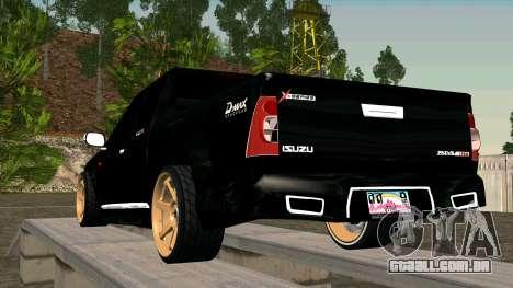 Isuzu D-Max X-Series para GTA San Andreas traseira esquerda vista