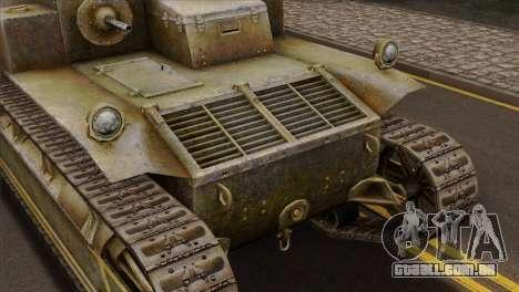 T2 Medium Tank para GTA San Andreas vista traseira