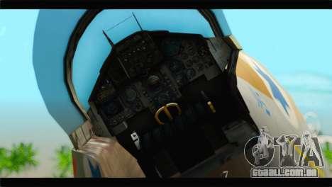 Boeing F-15C IAF para GTA San Andreas vista traseira