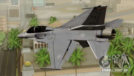 F-16D Fighting Falcon para GTA San Andreas esquerda vista