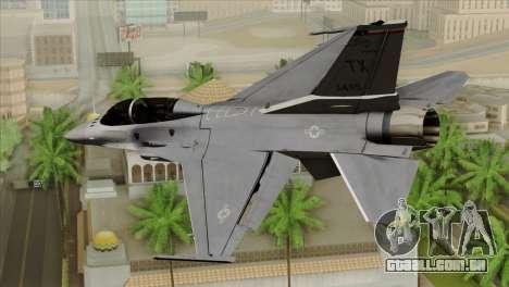 F-16D Fighting Falcon para GTA San Andreas esquerda vista