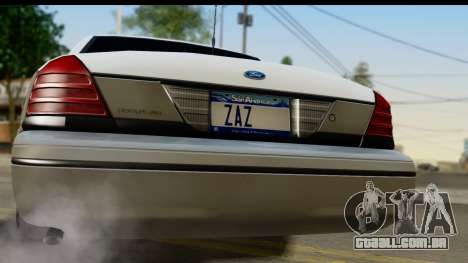 Ford Crown Victoria para GTA San Andreas vista direita