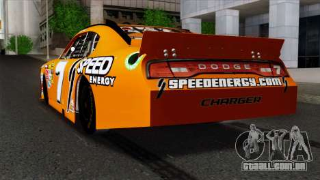 NASCAR Dodge Charger 2012 Short Track para GTA San Andreas esquerda vista