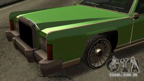 Beta Remington para GTA San Andreas vista superior