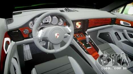 Porsche Panamera Turbo 2010 para GTA 4 vista de volta
