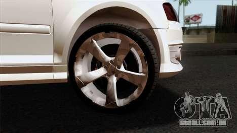 Audi S3 2011 para GTA San Andreas traseira esquerda vista
