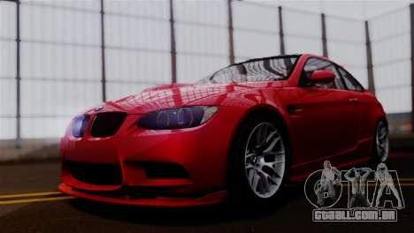 BMW M3 E92 GTS 2012 v2.0 Final para GTA San Andreas traseira esquerda vista